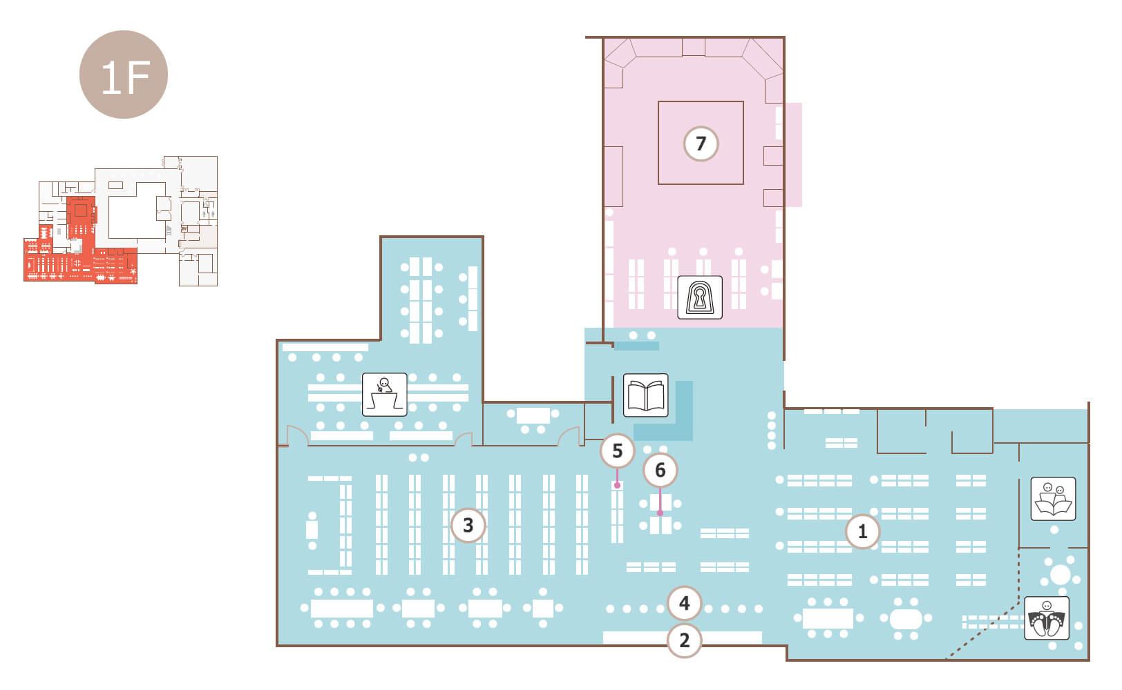 図書館のフロアマップ